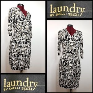 laundry by shelli segal woman wrap dress medium